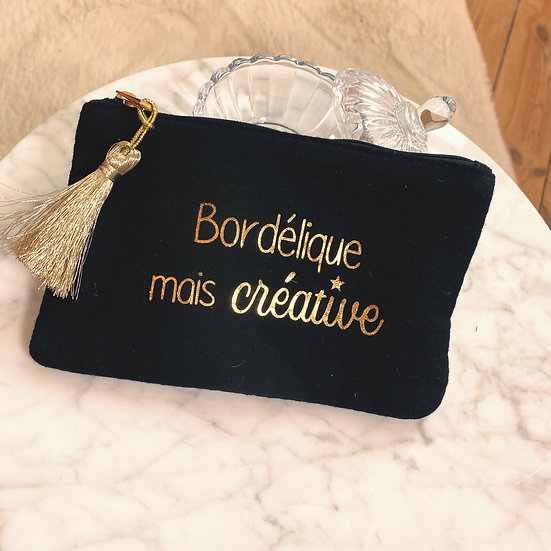 Pochette Bordélique Mais Créative Noir