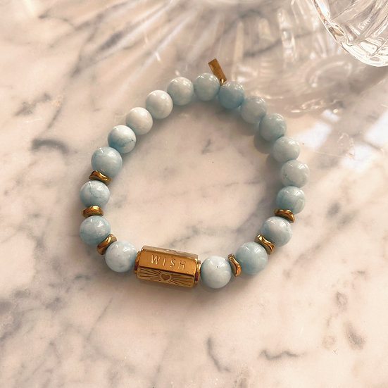 Bracelet Mila Love en Aigue Marine