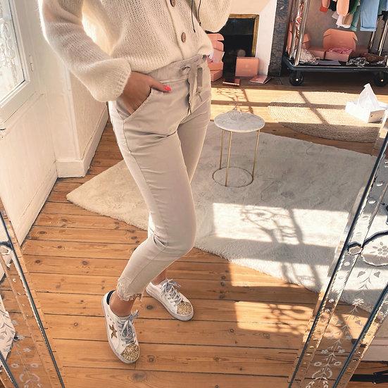 Pantalon en Toile Beige