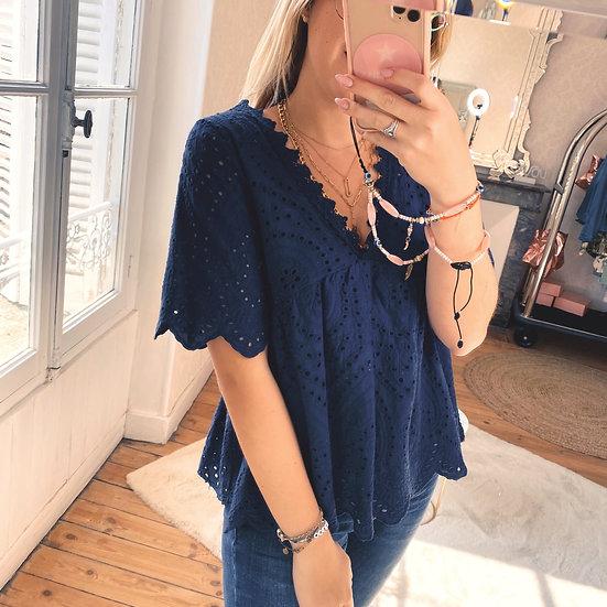 Haut Lace Bleu