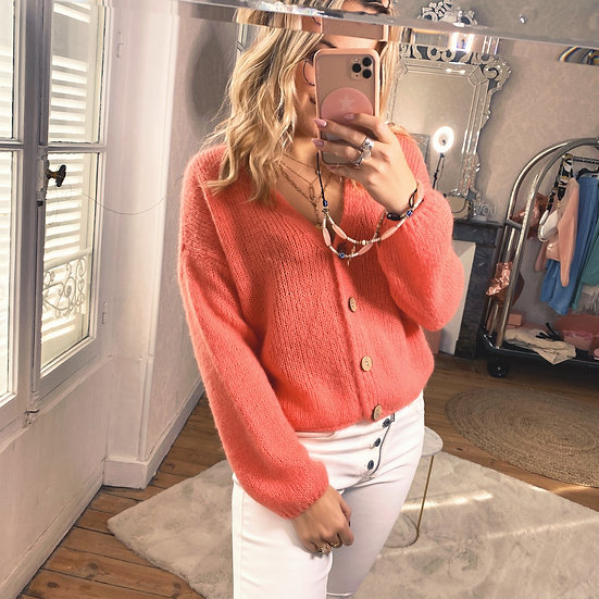Pull / Gilet Mabelle Corail
