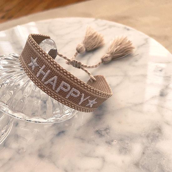 Bracelet Mila Woven Beige