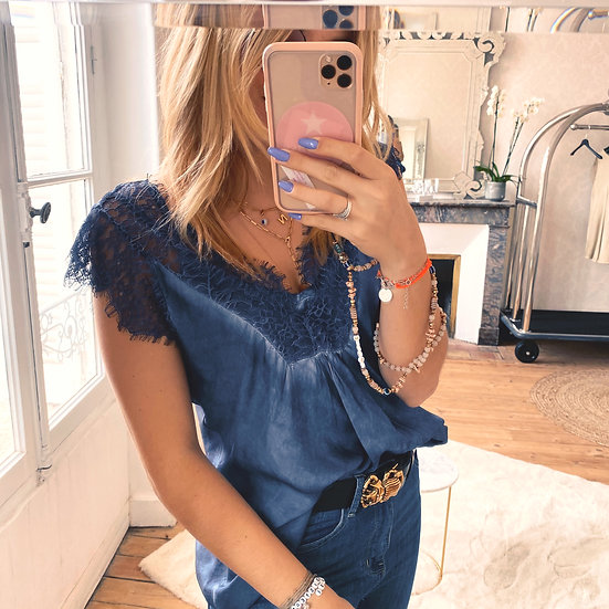 Top Lace Bleu