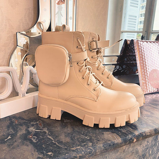 Boots Pochettes Beige