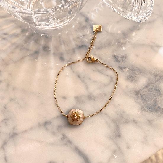 Bracelet Zag Stone Quartz Rose