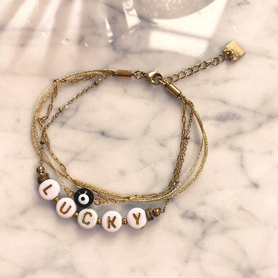 Bracelet Mila Quatro Lucky Doré