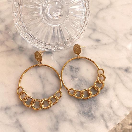 Boucles d'oreilles Zag Chain