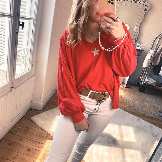 Blouse Star Rouge