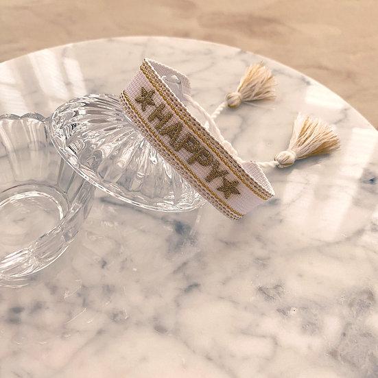 Bracelet Mila Woven Blanc
