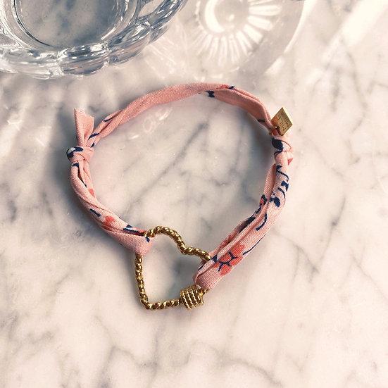 Bracelet Mila Fabrics Heart Rose