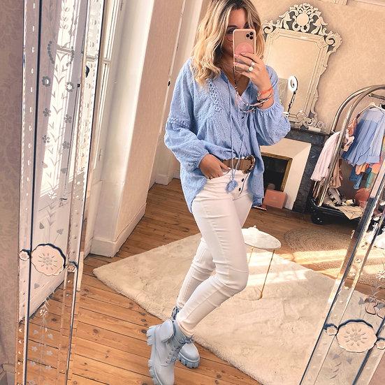 Haut Sandrine Bleu