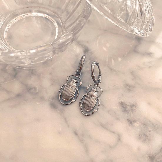 Boucles d'Oreilles Mila Scarabées Acier