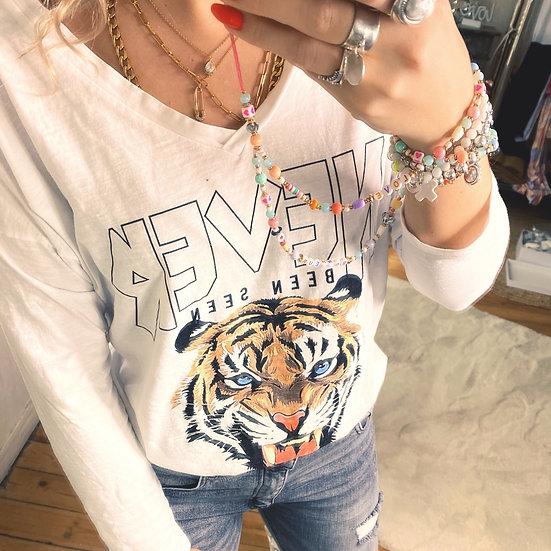 Tee Shirt Tiger Blanc
