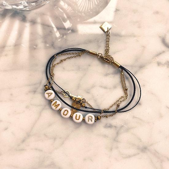 Bracelet Mila Quatro Amour Noir