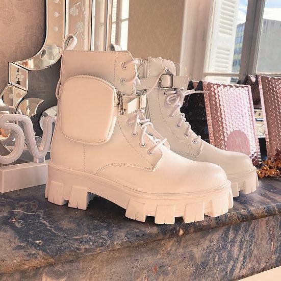 Boots Pochettes Blanche