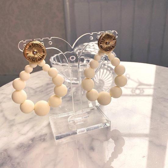 Boucles D'oreilles Mila Balls Blanches