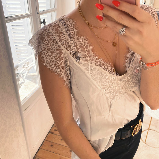 Top Lace Écru