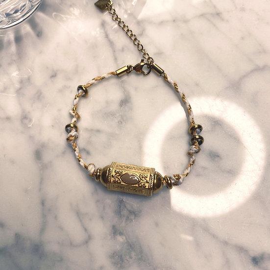Bracelet Mila Cylinder Beige