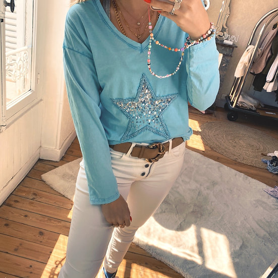 Haut Oncle Turquoise