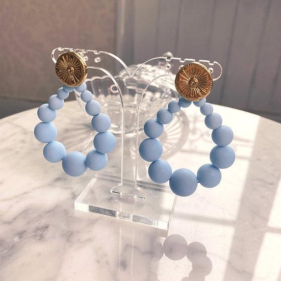 Boucles D'oreilles Mila Balls Bleu