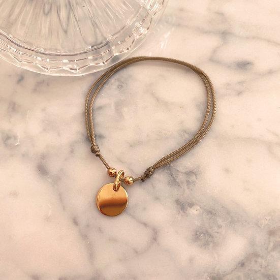 Bracelet Cordon Pampille Plaqué or