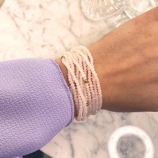 Dix Bracelets Shine Rose