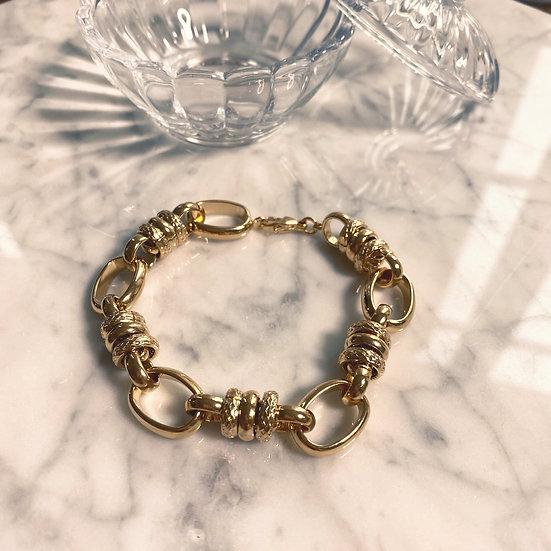Bracelet Maille Plaqué Or