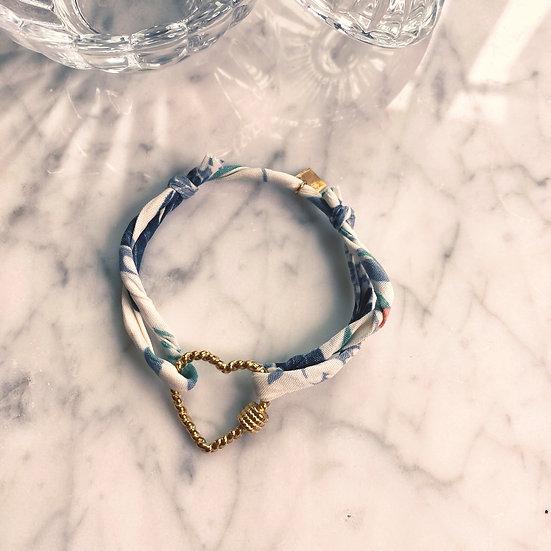 Bracelet Mila Fabrics Heart Bleu