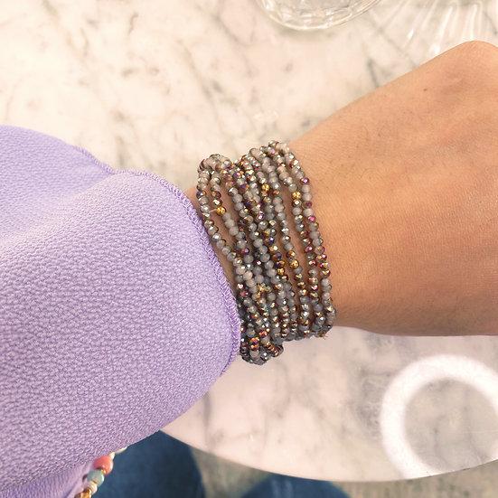 Dix Bracelets Shine Gris