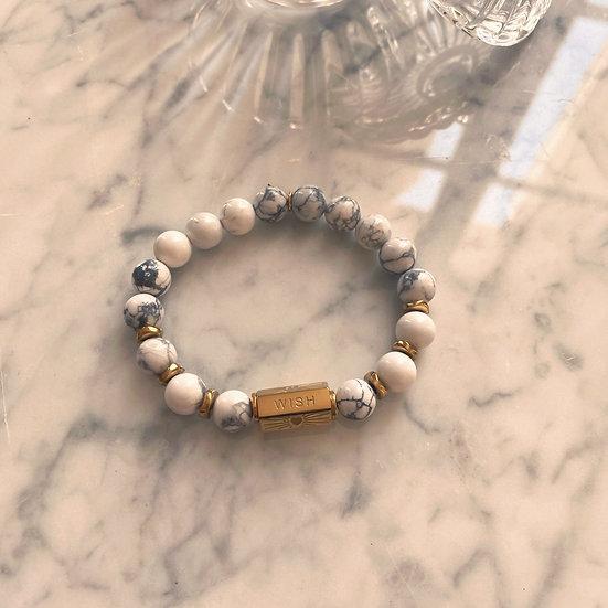 Bracelet Mila Love en Howlite