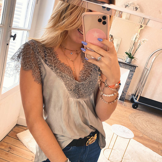 Top Lace Taupe