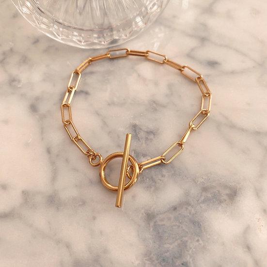 Bracelet Fermoir Plaqué Or