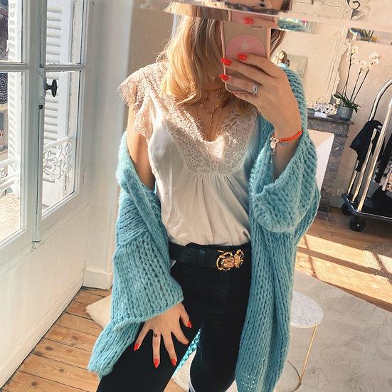 Gilet Bella Turquoise