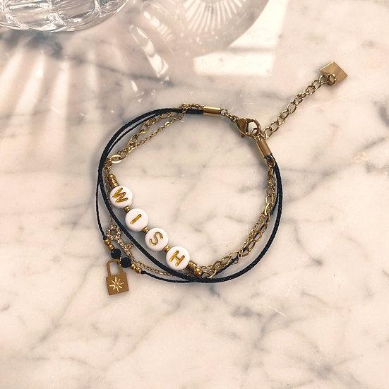 Bracelet Mila Quatro Wish Noir