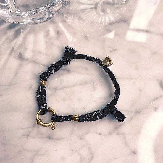 Bracelet Mila Fabrics Noir