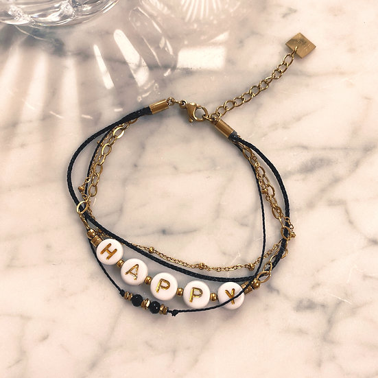 Bracelet Mila Quatro Happy Noir