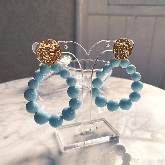 Boucles D'oreilles Mila Balls Turquoise