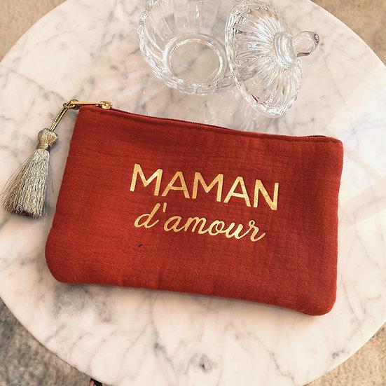 Pochette Maman D'Amour Rouille