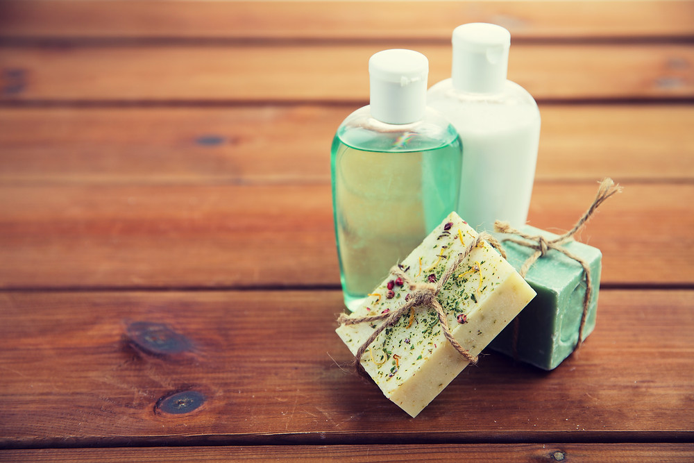 Soap bars and reusable bottles