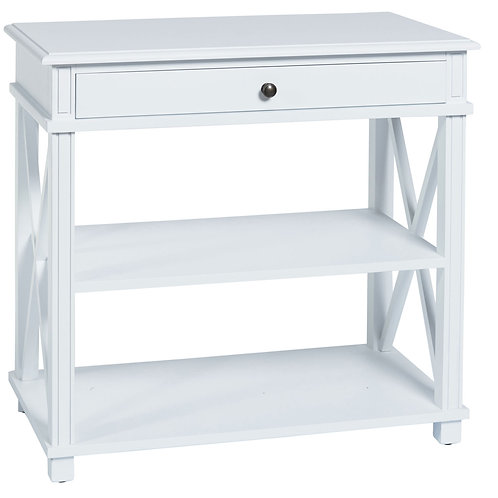 MANTO BEDSIDE TABLE LARGE WHITE