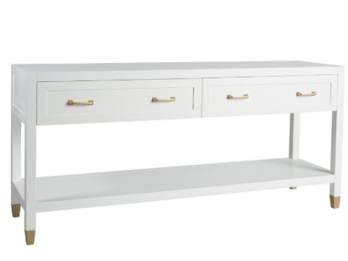 Guild Console table with Gold handle