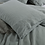 Thumbnail: Heavy Weight Pure French Linen Sheet Set Fitted Flat Sheet Set - Duck Egg Blue