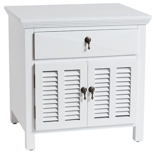 LOUVRE BEDSIDE WHITE
