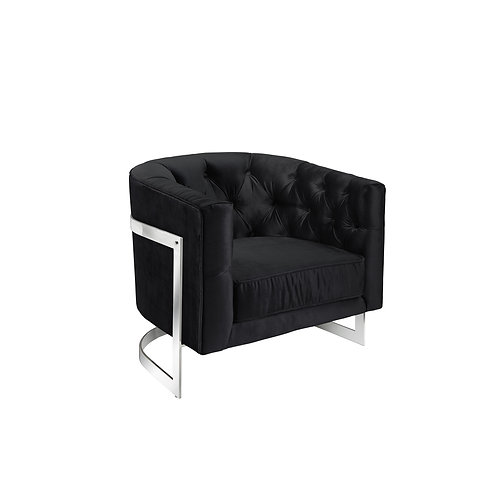 Paxton accent chair black velvet