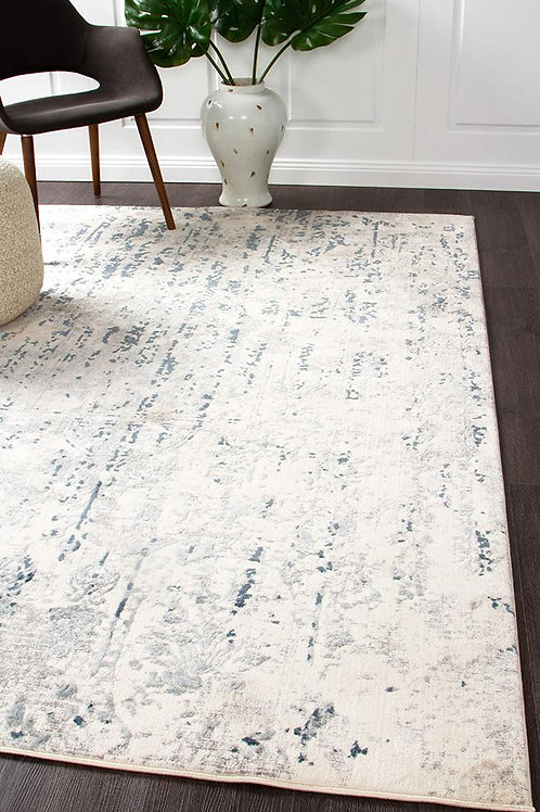 Kendra Floor Rug Colour White  by Rug Culture