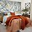 Thumbnail: Camille Silk Velvet Quilted Large Throw Bedend Throw - Burnt Orange