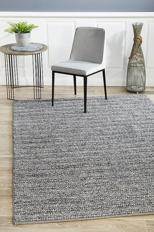 Harvest Plush Floor Rug Colour Steel by Rug Culture