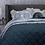 Thumbnail: Arabella Petrol Blue 100% Cotton Coverlet Bedspread Set