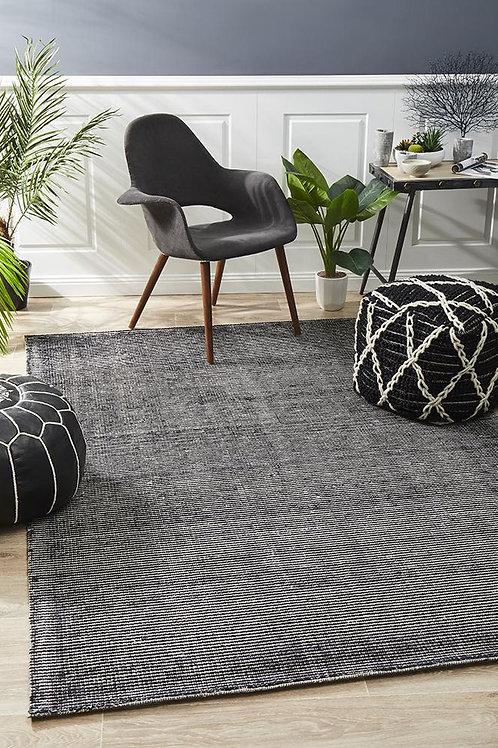 Allure Floor Rug Colour Black 225cm x 155cm
