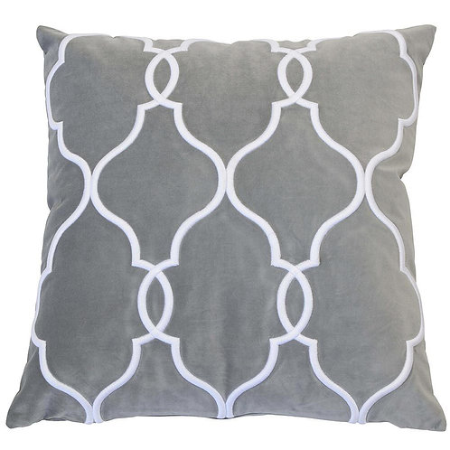 LAGUNA BEACH SILVER CUSHION COVER